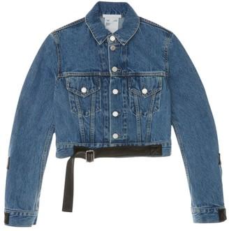 Helmut Lang Cropped Belted Denim Jacket