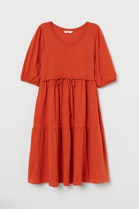 H&M MAMA Cotton Jersey Dress - Orange