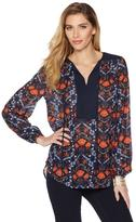 Jones New York Botanical-Print Peasant Blouse