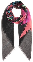 Balenciaga Printed silk and wool scarf