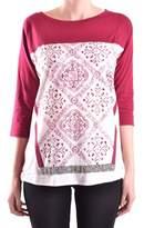 Liu Jo Women's Burgundy Cotton T-shirt.