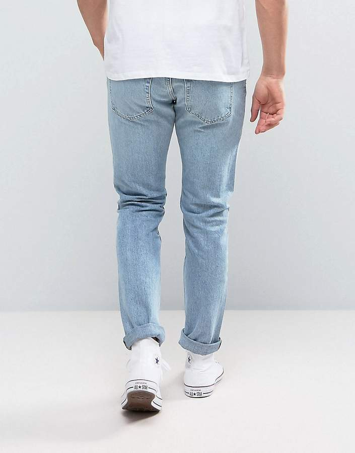 Weekday Friday Skinny Jeans Wow Blue Wash