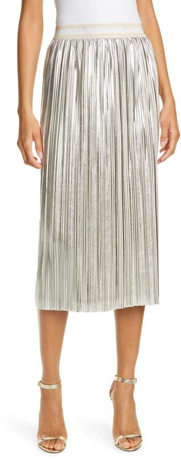 8cc90628a825 Metallic Pleat Skirt - ShopStyle