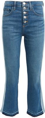 Veronica Beard Carolyn Tuxedo Stripe Baby Boot Jeans