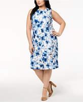 Calvin Klein Plus Size Floral-Print Sheath Dress