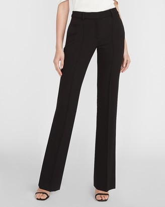 Express High Waisted Seamed Front Knit Flare Pant