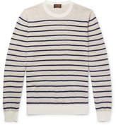 Tod's Striped Cotton and Linen-Blend Sweater