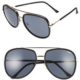 Quay Women's 'Needing Fame' 65Mm Aviator Sunglasses - Black/ Smoke