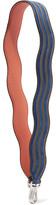 Fendi Striped Leather And Nubuck Bag Strap - Royal blue
