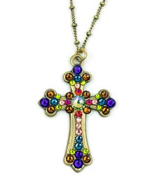 Swarovski Anne Koplik Crystal Cross Necklace