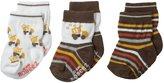 Robeez Baby-Boys Newborn 3 Pair Socks Busy Lofty, Brown, 6-12 Months