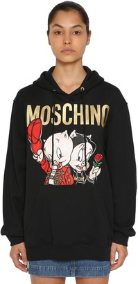 Moschino Logo Print Cotton Sweatshirt Hoodie