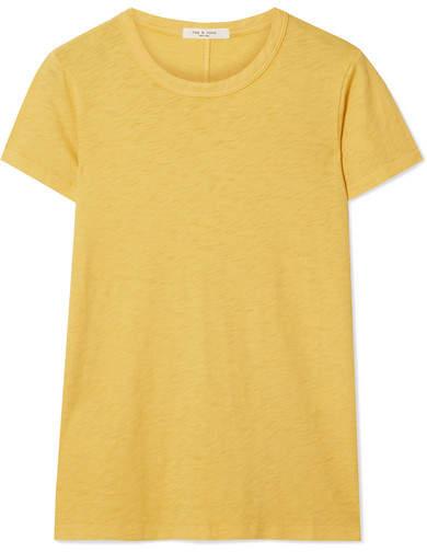 Rag & Bone The Tee Pima Cotton-jersey T-shirt - Yellow