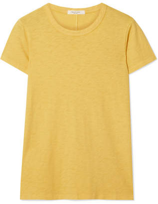 Rag & Bone The Tee Pima Cotton-jersey T-shirt - Yellow