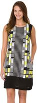 Haggar Women's Geometric Challis Shift Dress