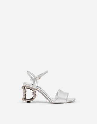 Dolce & Gabbana Nappa Mordore Sandals With Baroque Heel