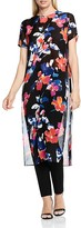 Vince Camuto Floral Rendezvous Sheer Tunic