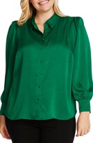 Vince Camuto Hammered Satin Long Sleeve Blouse