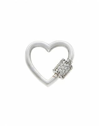 Marla Aaron Diamond Baby Heart Lock - White Gold