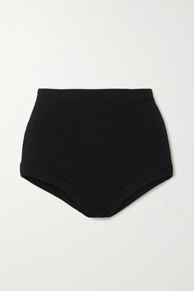 Vix Milano Retro Ribbed Bikini Briefs - Black