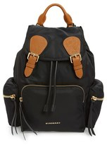 Burberry 'Medium Runway Rucksack' Nylon Backpack - Black