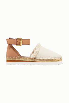 See by Chloe Leather And Canvas Platform Espadrilles - Ivory