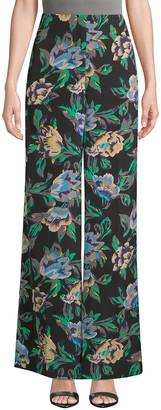 Diane von Furstenberg Printed Wide Leg Pant