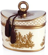 Seda France Japanese Quince Classic Toile Ceramic Two-Wick Candle