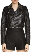 Maje Bloodya Studded Leather Jacket