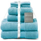 Jeff Banks Pure Cotton Supersoft Contemporary Towels, 6-Piece - Light Teal