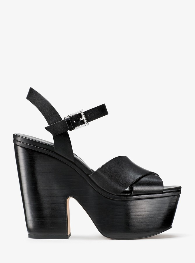 MICHAEL Michael Kors Divia Leather Platform Sandal