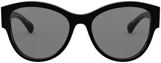 Chanel Round Cat Eye Frame Sunglasses