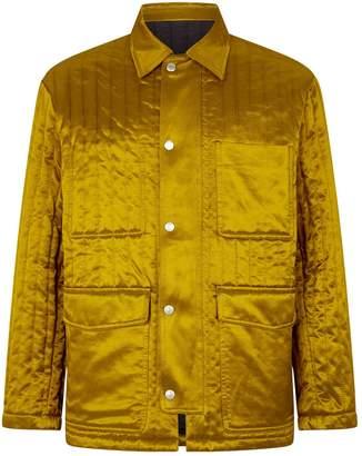 Ami Paris Satin Quilted Jacket