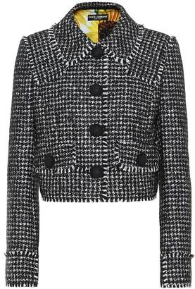 Dolce & Gabbana Houndstooth wool-blend jacket