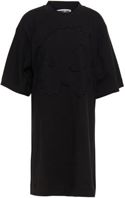 McQ Embroidered Cotton-jersey Mini Dress