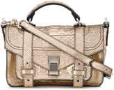 Proenza Schouler ps1 tiny snakeskin satchel