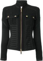 DSQUARED2 zip-up military bustier jacket - women - Polyester/Spandex/Elastane/Acetate/Viscose - 38