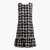 J.Crew Tall flounce silk dress in wolfstooth