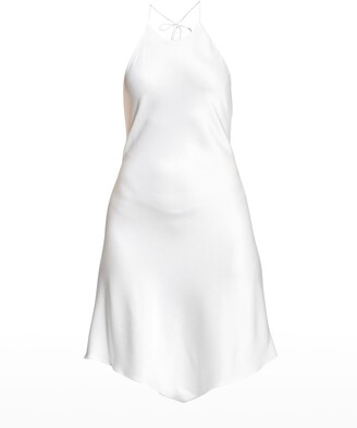 Alice + Olivia Francene Handkerchief Halter Dress