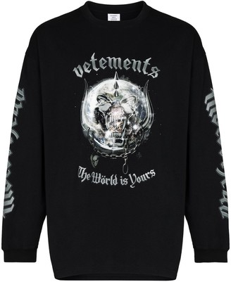 Vetements x The World Motorhead crew-neck sweatshirt