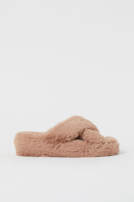 H&M Faux Fur Slippers