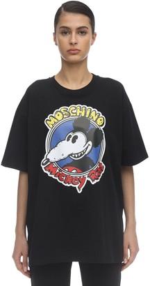 Moschino Oversize Printed Cotton Jersey T-Shirt