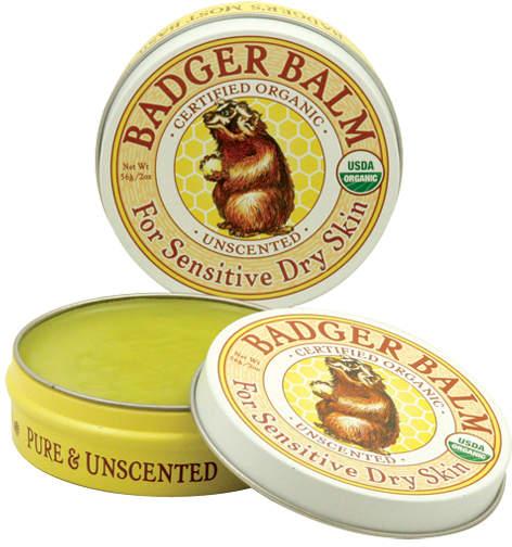 Badger Unscented Healing Balm by 2oz Balm)