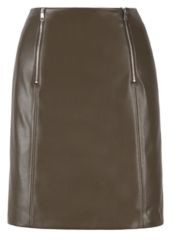 HUGO BOSS A-line skirt in faux leather with zip detailing