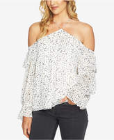 1 STATE 1.STATE Off-The-Shoulder Ruffled-Sleeve Top