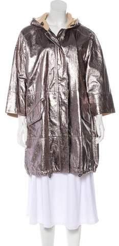Brunello Cucinelli Metallic Leather Coat