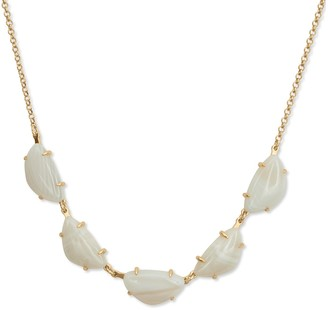 Lucky Brand White Agate Collar Necklace