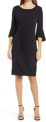 Connected Apparel Pleat Jersey Dress
