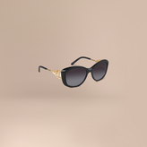 Burberry Gabardine Lace Collection Square Frame Sunglasses