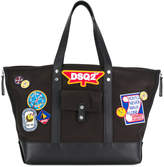 DSQUARED2 badge patch tote
